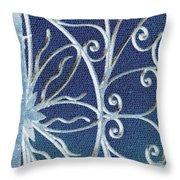 Blue Gate Mosaic Throw Pillow