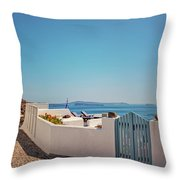 Blue Gate Santorini Throw Pillow
