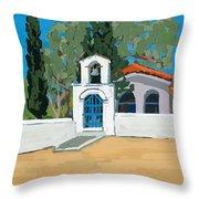 Blue Gate Throw Pillow