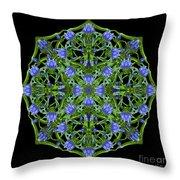Blue Gentian Lattice Throw Pillow