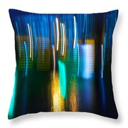 Blue Ghosts Throw Pillow