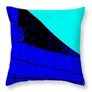Blue Glass Abstract Throw Pillow