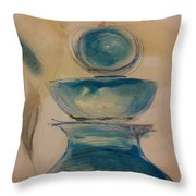Blue Glass Throw Pillow