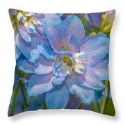 Blue Glory Throw Pillow