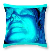 Blue Goddess Throw Pillow