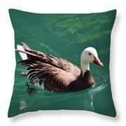 Blue Goose-3 Throw Pillow