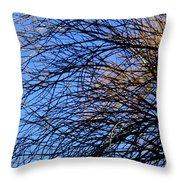 Blue Grace Throw Pillow