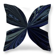 Blue, Green And Black Butterfly Astract Throw Pillow