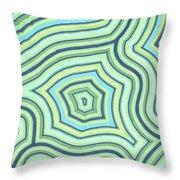 Blue Green Pattern Play Throw Pillow