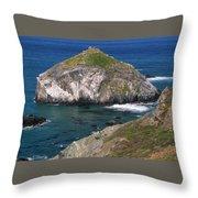Blue Green Seas - Highway One Throw Pillow