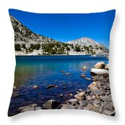 Blue Green Treasure Lake Throw Pillow