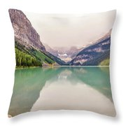 Blue-green Waters Of Lake Louise Throw Pillow