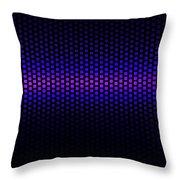 Blue Grid Throw Pillow