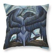 Blue Griffin Throw Pillow