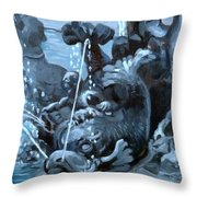 Blue Grotto Throw Pillow