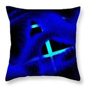 Blue Guitar 2 Throw Pillow