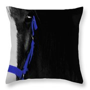 Blue Halter Throw Pillow