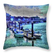 Blue Harbour Throw Pillow