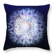 Blue Haze Petals Throw Pillow