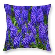 Blue Heads Throw Pillow