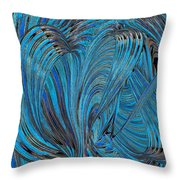 Blue Hearts Open Throw Pillow