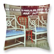Blue Heaven Quote Throw Pillow