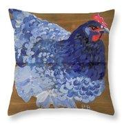Blue Hen Throw Pillow
