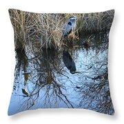 Blue Heron. Throw Pillow