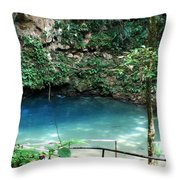 Blue Hole National Park Throw Pillow