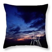 Blue Hole Tower Throw Pillow