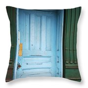 Blue Home Throw Pillow