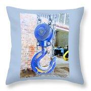 Blue Hook Throw Pillow