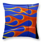 Blue Hot Rod Closeup Throw Pillow