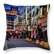 Blue Hour At East Fourth Throw Pillow