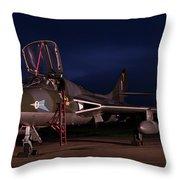 Blue Hour Hunter Throw Pillow