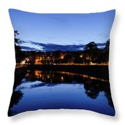blue hour in Cork Throw Pillow