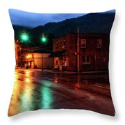 Blue Hour In Webster Springs Throw Pillow