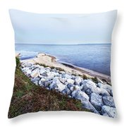 Blue Hour On Choctawhatchee Bay Throw Pillow