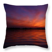 Blue Hour On The Neches  Throw Pillow