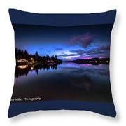 Blue Hour Reflected Throw Pillow