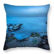 Blue Hour Sunset Throw Pillow