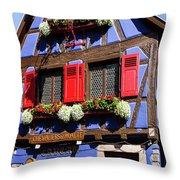 Blue House # I Throw Pillow