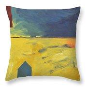 Blue House Gold Field Throw Pillow