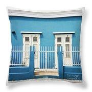 Blue Curacao House Throw Pillow