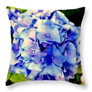 Blue Hues Throw Pillow