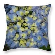 Blue Hydrangea Bouquet Throw Pillow