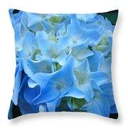 Blue Hydrangea Floral Flowers Art Prints Baslee Troutman Throw Pillow