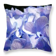 Blue Hydrangea Flowers Art Prints Baslee Troutman Throw Pillow