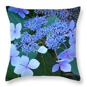 Blue Hydrangea Flowers Floral Art Baslee Troutman Throw Pillow