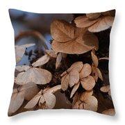 Blue Hydrangea II Throw Pillow